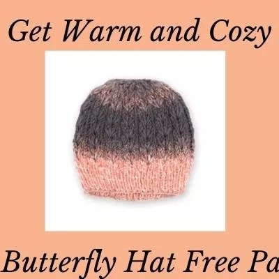 Get Warm and Cozy with this Knit Butterfly Hat Free Pattern