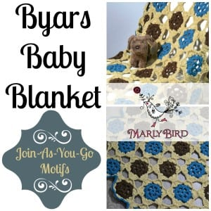 Byars Baby Blanket by Marly Bird. Free Crochet Afghan Pattern and Video Tutorial.