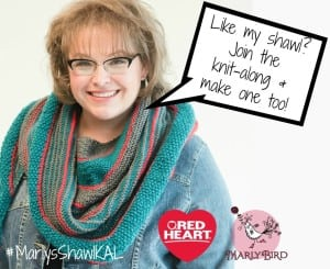 Join the Marly Bird Garter Stitch Shawl KAL