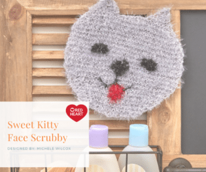 7 Months of Scrubby-Sweet Kitty Face Scrubby