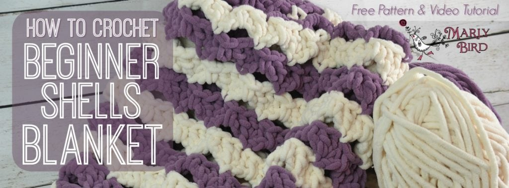 Crochet Beginner Shells Blanket Marly Bird