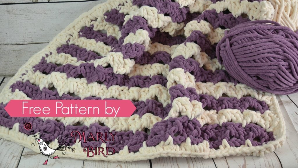Crochet Beginner Shells Blanket