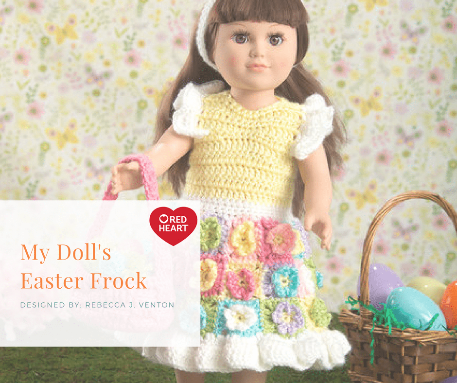 Red Heart My Doll's Easter Frock
