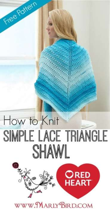 Simple Lace Triangle Shawl