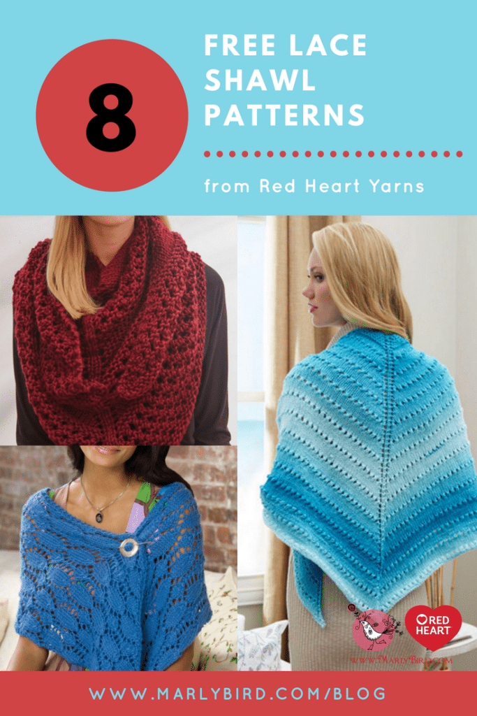 Free Knit Lace Shawl Patterns Marly Bird