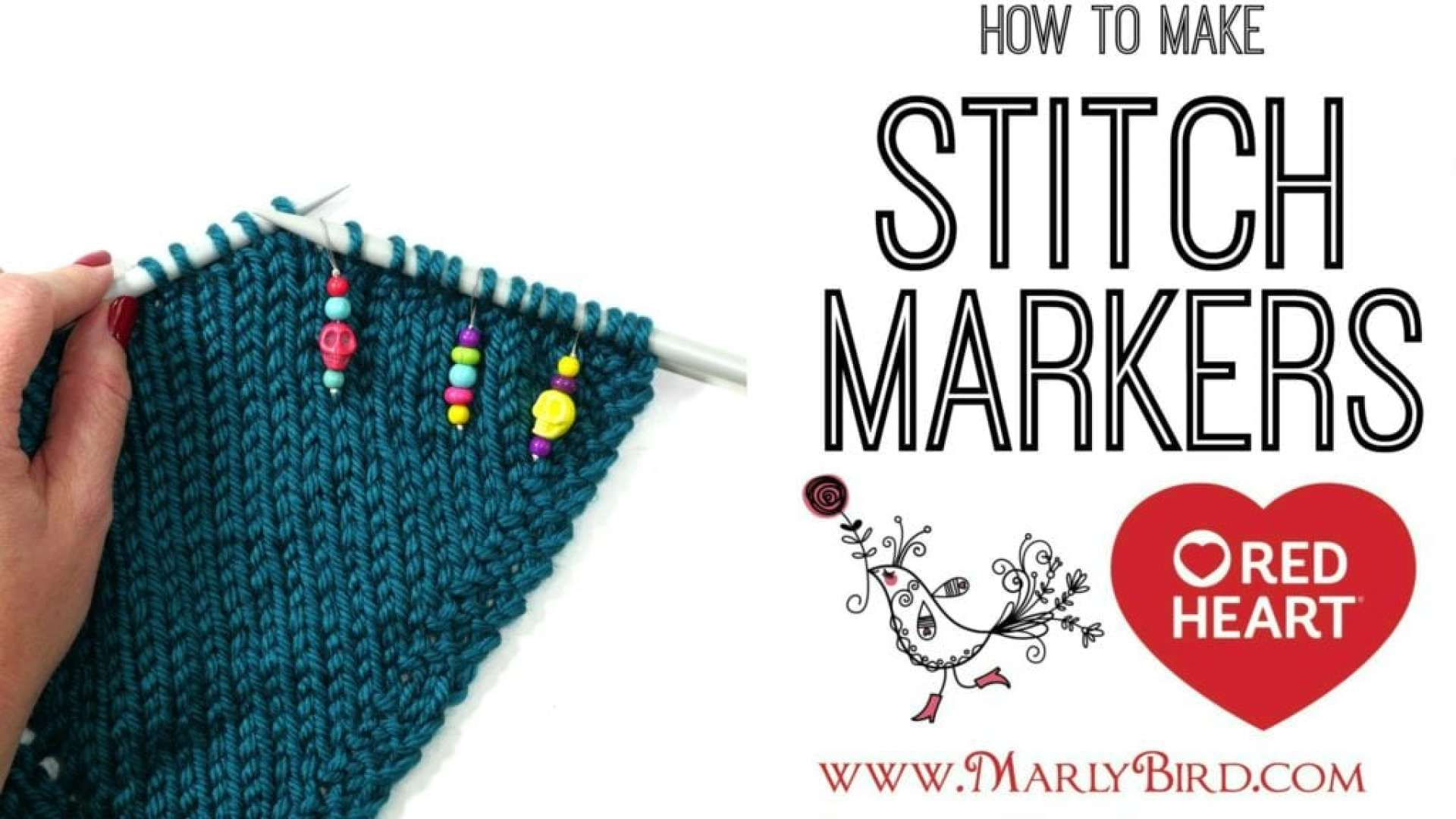 Video Tutorial how to make Knit Stitch Markers