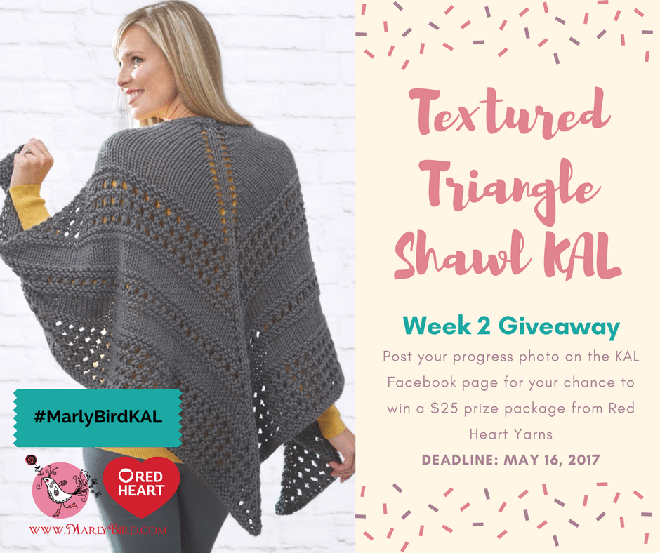 Week 2 Giveaway-Textured Triangle Shawl KAL