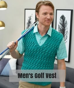 Red Heart Knit Father's Day Patterns-Men's Golf Vest