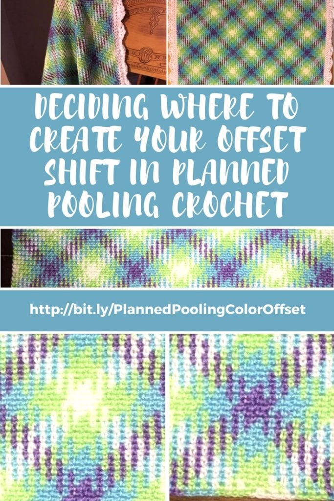 Deciding where to create your offset shirt in planned pooling crochet