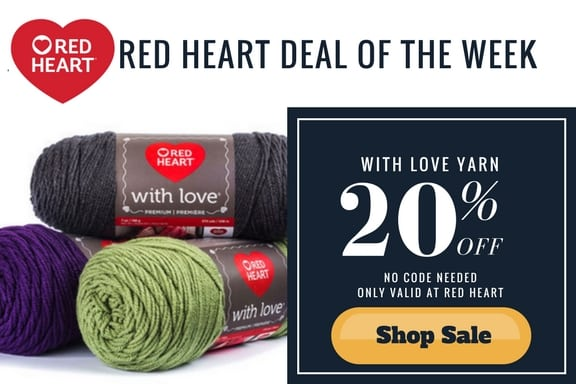 Red Heart Deal of the Week-Red Heart With Love 20% off