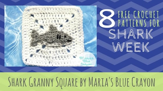 Shark Granny Square by Maria's Blue Crayon