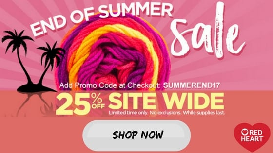 Red Heart End of Summer Sale