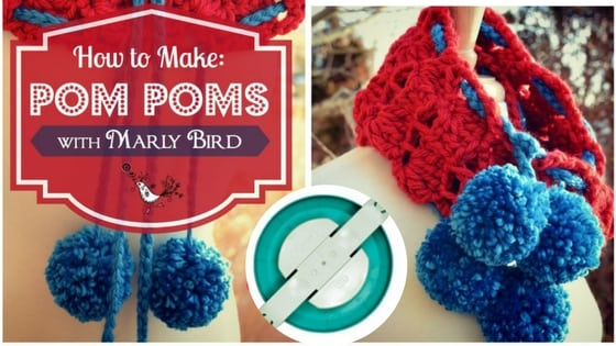 Video Tutorial of How to Make a Pom Pom with the Clover Pom Pom Maker with Marly Bird