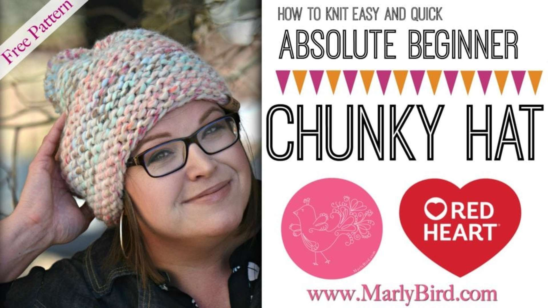 Absolute Beginner Chunky Knit Hat Pattern by Marly Bird Includes Free Video Tutorial