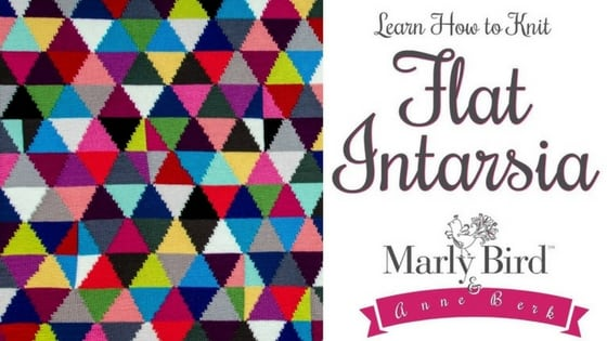 Video Tutorial-How to Knit Flat Intarsia