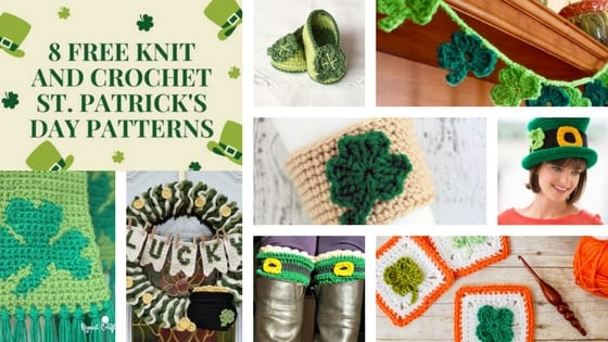 8 FREE Knit and Crochet St. Patrick's Day Patterns