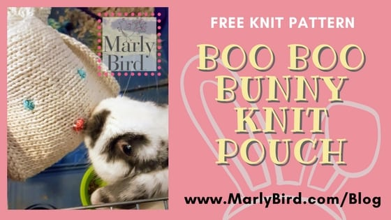 FREE Knit Pattern-Boo Boo Bunny Pouch