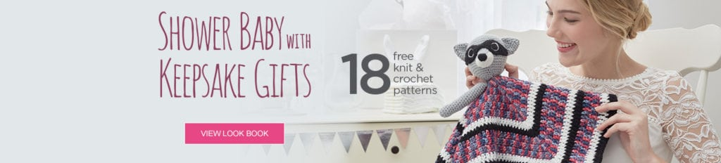 18 FREE Knit and Crochet Keepsake Gifts for Babies from Red Heart