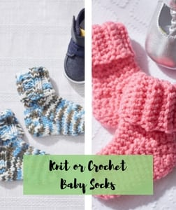 Knit or Crochet Baby Socks