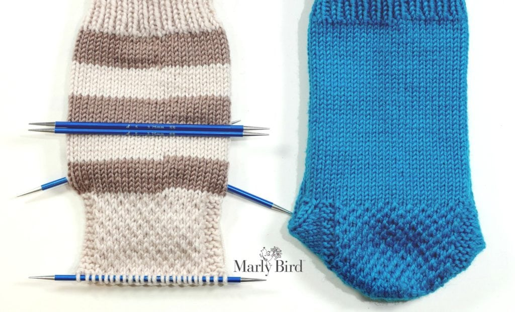 My First Socks On Double Pointed Needles Part 3 Of 6 Marly Bird