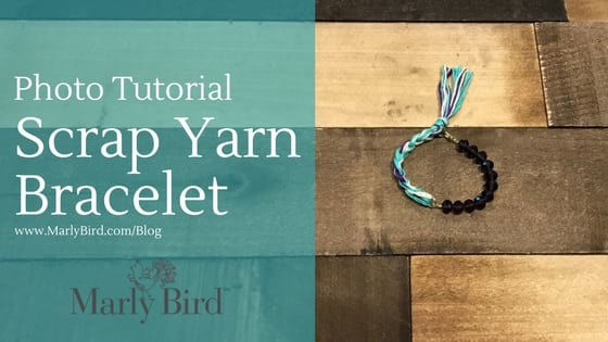 Photo Tutorial DIY Scrap Yarn Bracelet