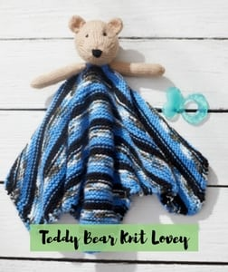 Teddy Bear Knit Lovey