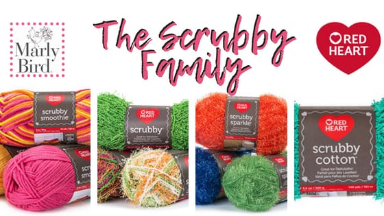 Review of the Red Heart Scrubby Family of Yarns