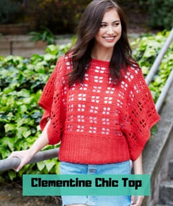 Clementine Chic Top FREE Crochet Pattern