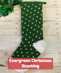 Evergreen Christmas Stocking by Petals to Picot