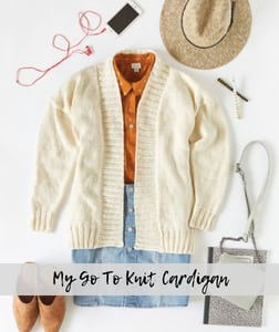 My Go To Knit Cardigan-FREE Red Heart Pattern