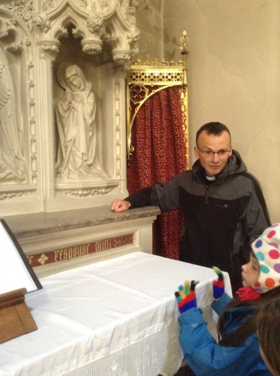 Fr Phil and St Gertrude's mouse