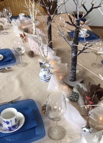 Winter Danish Porcelain Tea Table