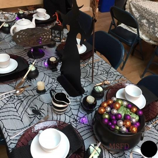 Halloween Tea Table - Witchy 1