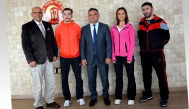 ÇOMÜ'lü Yasin Usta ve Hale Nur Böltül Dünya Karate Şampiyonası'nda