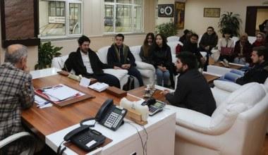Üniversite öğrencilerinden Başkan Dişli'ye ziyaret