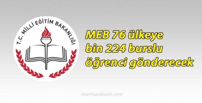 MEB 76 ülkeye bin 224 burslu öğrenci gönderecek