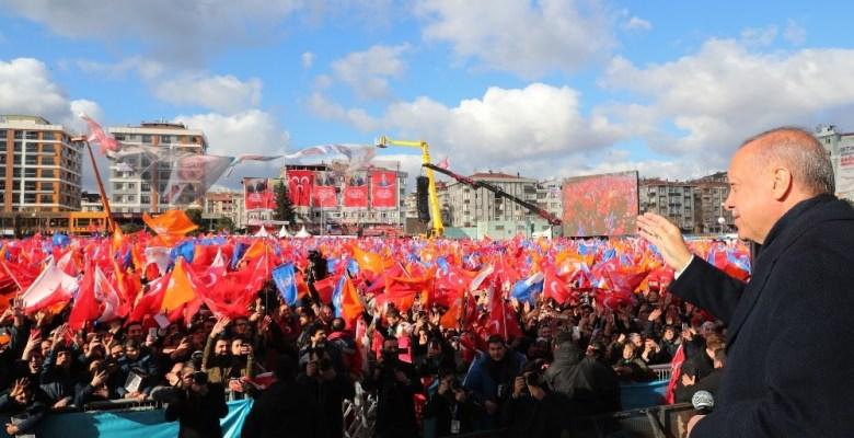 """Cumhurbaşkanı Erdoğan: """"50 günde 102 miting yaptım"""""""