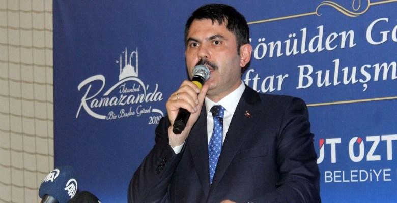 """Bakan Kurum: """"Kağıthane'de bu sene içerisinde de inşaat sürecini başlatacağız"""""""