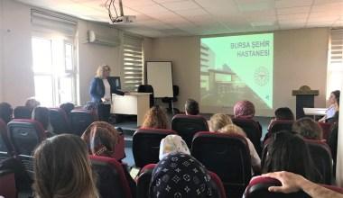 Bursa Şehir Hastanesi idarî çalışanlarına oryantasyon eğitimi