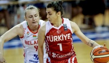 A Milli Kadın Basketbol Takımı, hazırlık maçında Belarus'u mağlup etti