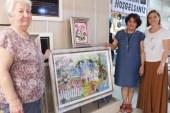 Burhaniye'de iplerle yapılan tablolar ilgi gördü