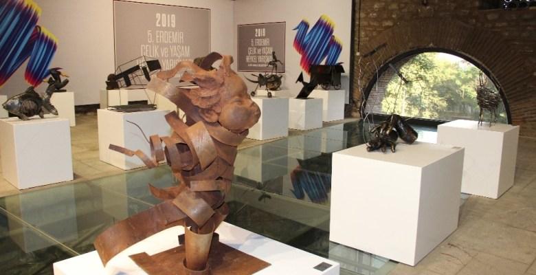 Çelikten sanat eserleri ödüllendirildi