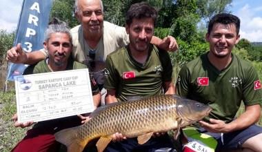 Sazan balığı tutma yarışmasında ödüller sahiplerini buldu