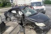 Servis minibüsü ile otomobil çarpıştı: 7 yaralı