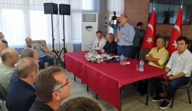 Süleyman Soylu Karadenizli Sporcular Derneğini ziyaret etti