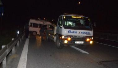 Hasdal – Okmeydanı Bağlantı yolunda kaza: 2'si ağır 3 yaralı