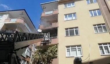 5 katlı binada çıkan yangın paniğe neden oldu