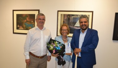 Ayvalık'ta Ressam Hale Arpacıoğlu'nun açtığı sergiye ilgi yoğun oldu