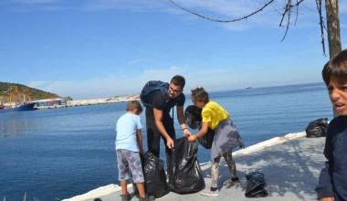 """Marmara Adası'nda """"Dünya Temizlik Günü"""" etkinliği"""