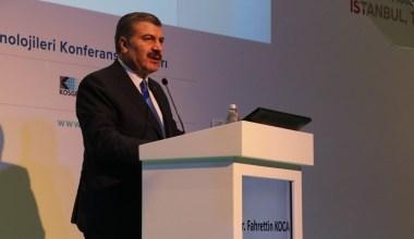 Sağlık Bakanı Fahrettin Koca, fuar açılışına katıldı